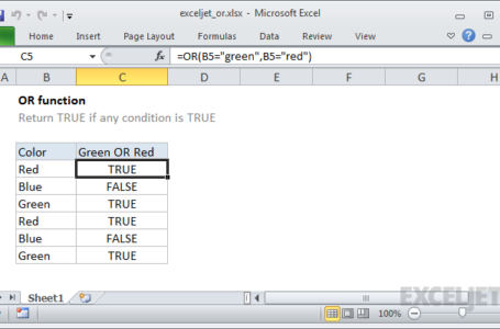 Excel Functions and Formulas – AND, OR and NOT Functions