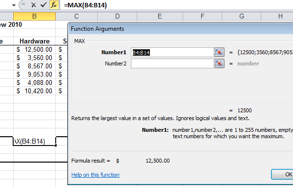 Excel Functions and Formulas – The Function Wizard